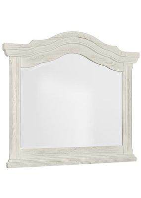 Rustic Hills Arched Landscape Mirror (Weathered White)