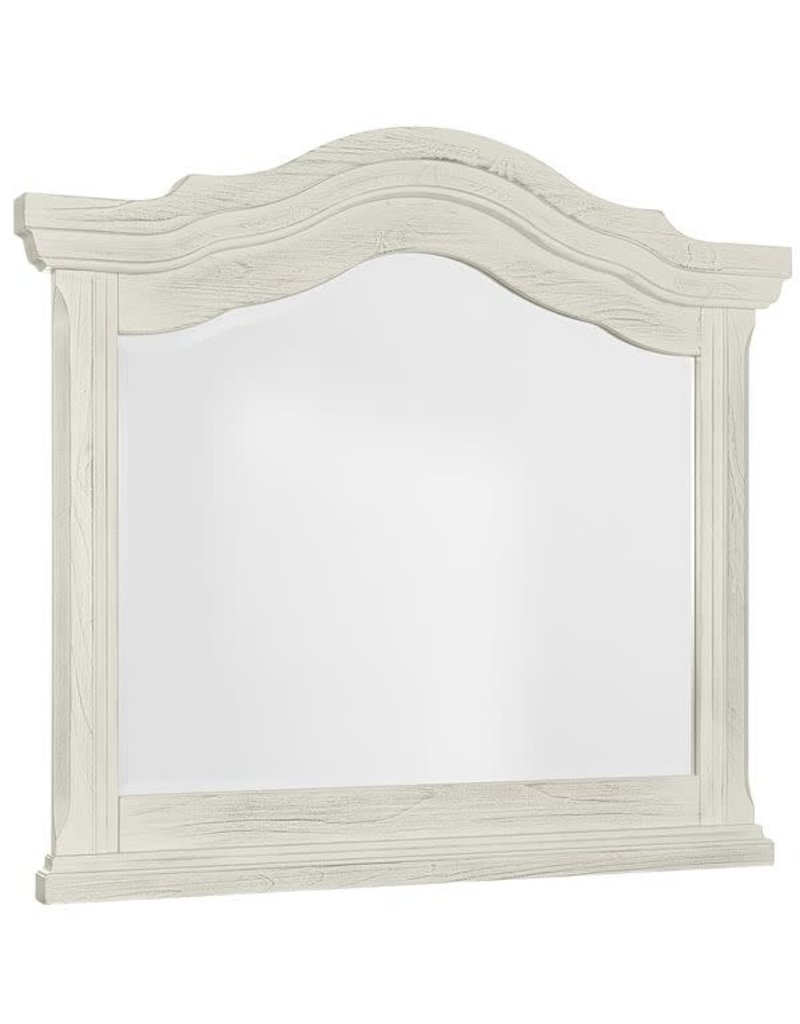 Vaughan Bassett Rustic Hills Arched Landscape Mirror in Weathered White (684-446)