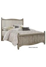 Vaughan Bassett Appalachian Hardwood American Maple Twin Slat Complete Bed in Rustic Grey (401-377,773,900)
