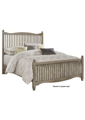 American Maple Twin Slat Complete Bed (Rustic Grey) )