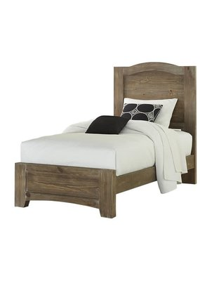 Vaughan Bassett Cottage Too Twin Complete Mansion Bed (Saddle Grey)