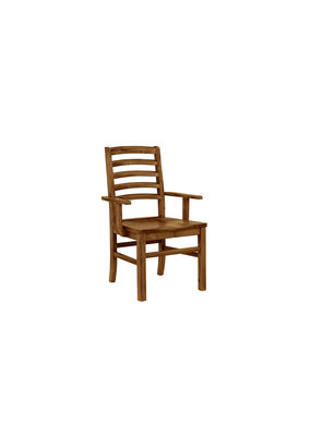 Simply Dining Horizontal Slat Arm Chair (Natural Maple)