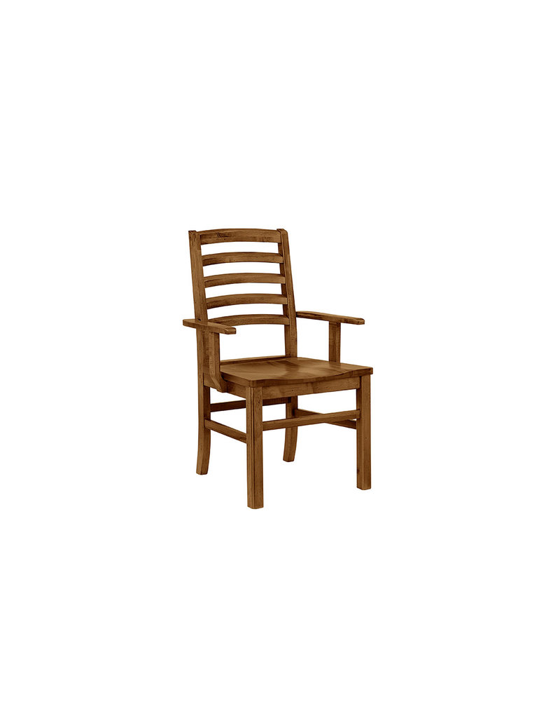 Vaughan Bassett A&P Simply Dining Horizontal Slat Arm Chair in Natural Maple (224-021)