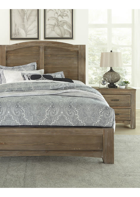 Vaughan Bassett Cottage Too Queen Mansion Complete Bed (Saddle Grey)