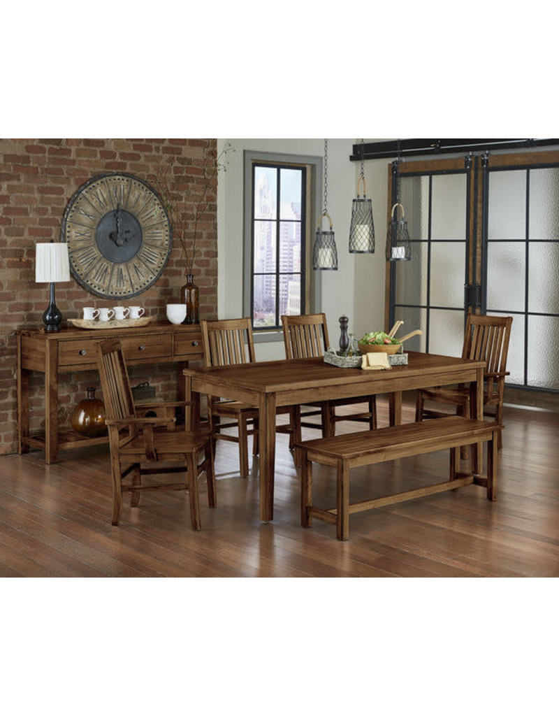 Vaughan Bassett Artisan & Post Simply Dining Roll Top Arm Chair in Antique Amish (230-041)