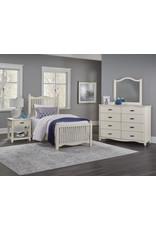 Vaughan Bassett Appalachian Hardwoods American Maple Twin Slat Complete Bed in Dusky White (404-377, 773, 900)