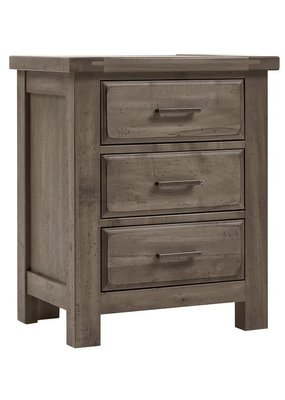 Vaughan Bassett Chestnut Creek 3 Drawer Nightstand (Pewter)