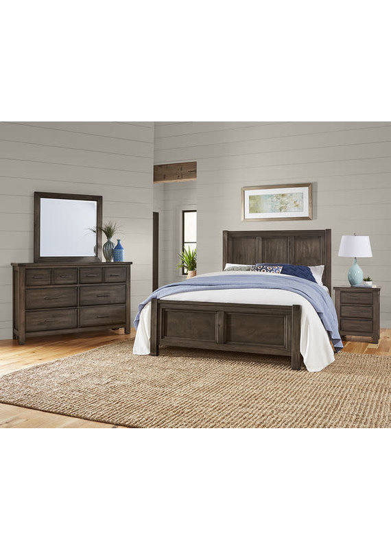 Vaughan Bassett Chestnut Creek Queen Panel Headboard (Truffle)