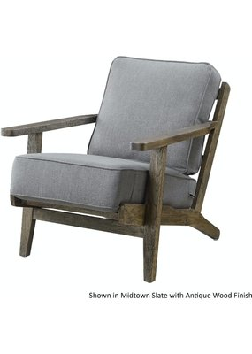 Elements Metro Accent Chair (Antique Wood)