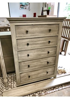 Style N Living Panel Tall Chest (Brushed Gray)