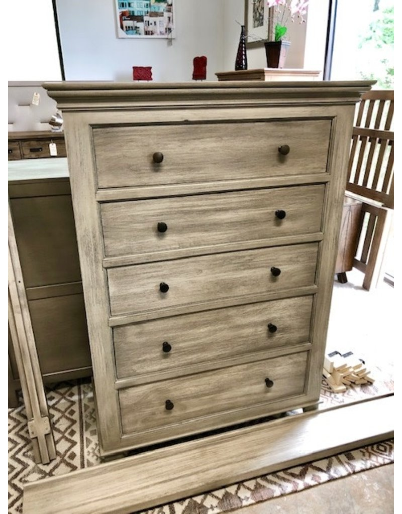 Style N Living Style N Living Panel Tall Chest in Brushed Gray (IPAN-C-BG)