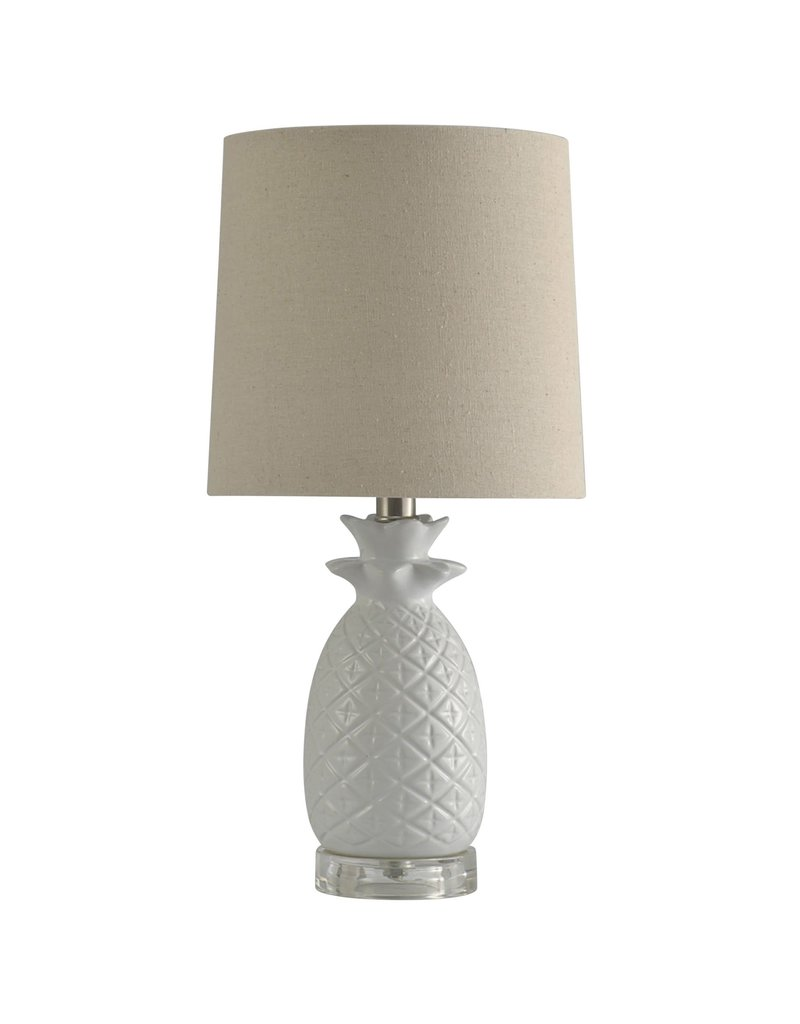 StyleCraft Home Collection - 18.75 Ceramic Lamp w/ Oatmeal Shade (L10176A)