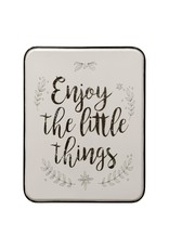 StyleCraft Home Collection - Enjoy the Little Things   Traditional Sentiment   Metal Wall Panel (WI42698)