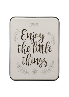 Enjoy the Little Things Metal Wall Panel