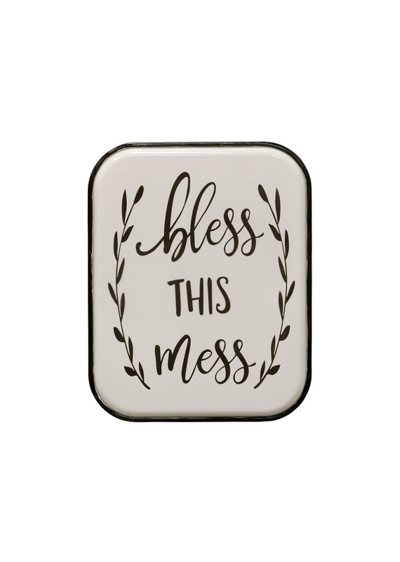 Bless this Mess Metal Wall Panel