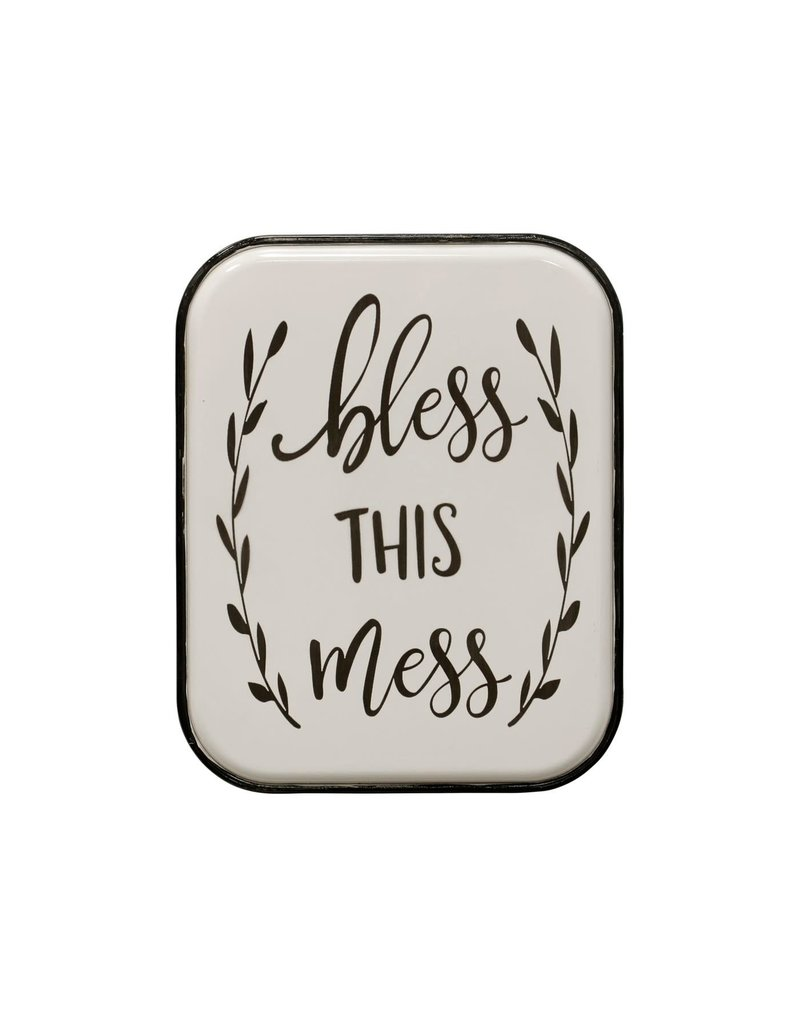 StyleCraft Home Collection - Bless this Mess | Traditional Sentiment | Metal Wall Panel (WI42697)