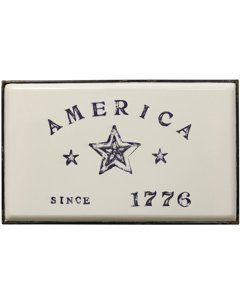 StyleCraft Home Collection - Declare Independence | Traditional Americana Art | Metal Wall Panel ( )