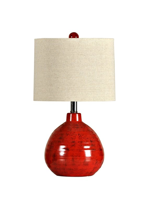 Accent Ceramic Table Lamp (Apple Red)
