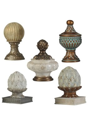 Set of Five Traditional Decorative Finial Accessories