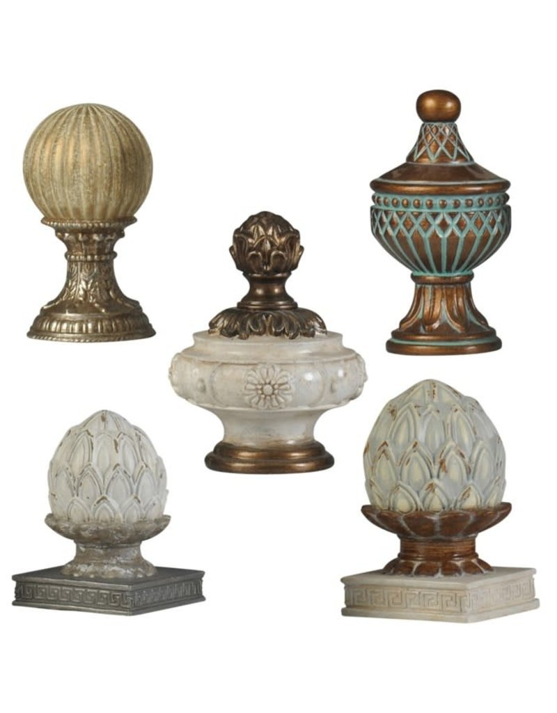 StyleCraft Home Collection - Velencia Finial Group | Set of Five Decorative Accessories | Traditional (AC85104)