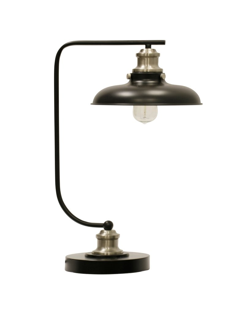 StyleCraft Home Collection - Arvin Silver Industrial Steel Desk Lamp (L315647)