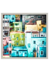 StyleCraft Home Collection - Colorful Homes Framed Print (WP30035)