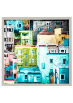 Colorful Homes Framed Print
