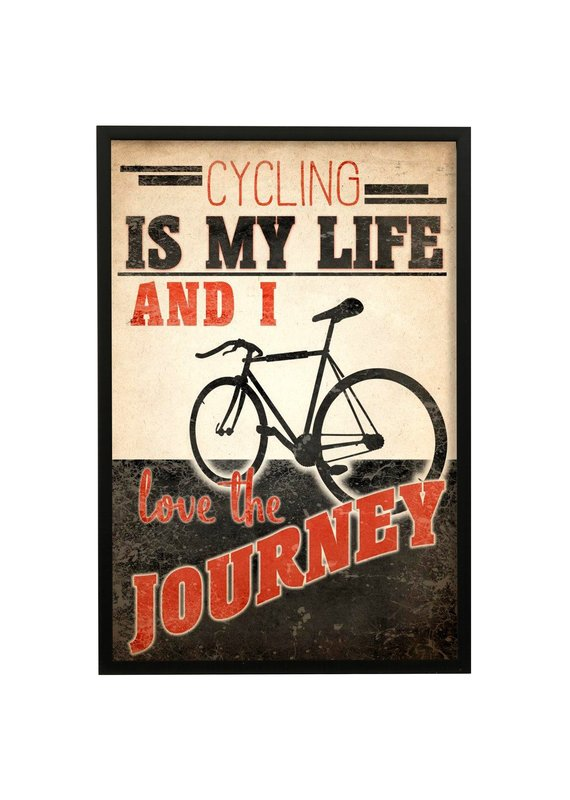 Cycling Is My Life Framed Print