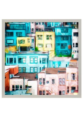 Colorful Homes II Framed Print
