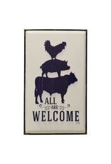 StyleCraft Home Collection - All Are Welcome Wall Art (WI42702)