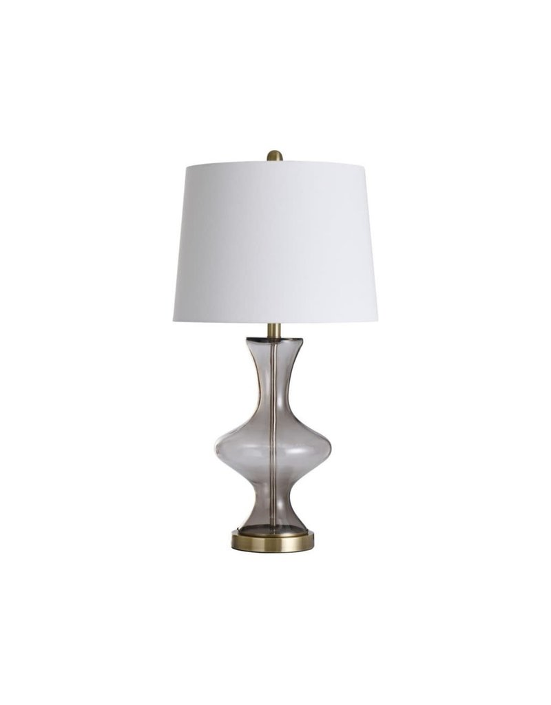 StyleCraft Home Collection - Glass and Steel Table Lamp (L318114)