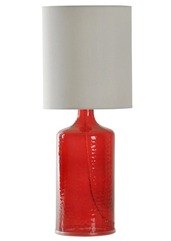 Seeded Glass Lamp (Cherry Red)