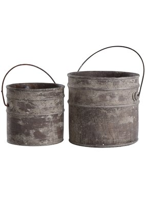 Set of 2 Concrete Buckets (Onley Grey)
