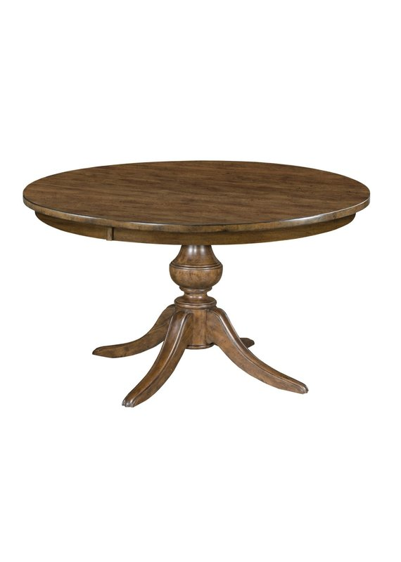 "Kincaid The Nook 54"" Round Dining Table w/ Wooden Base (Hewned Maple)"
