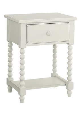 Vaughan Bassett Scotsman Leg Night Table (Cream)