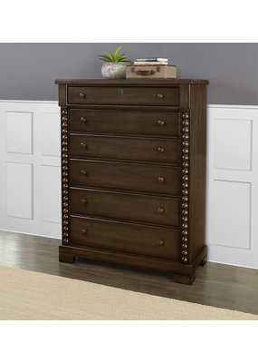 Vaughan Bassett Scotsman 6 Drawer Tall Chest (Molasses)