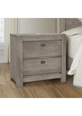 Vaughan Bassett Touche Nightstand (Arctic Grey)