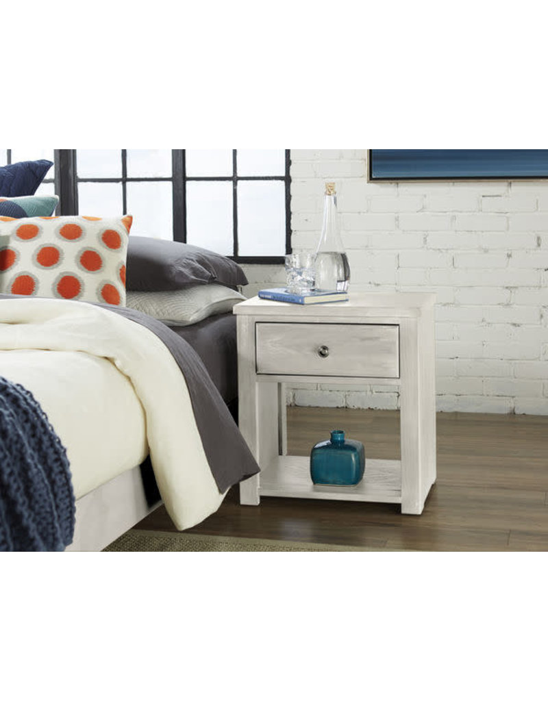 Vaughan Bassett Vaughan Bassett IGen 1 Drawer Night Table in Sea Salt White (912-227)