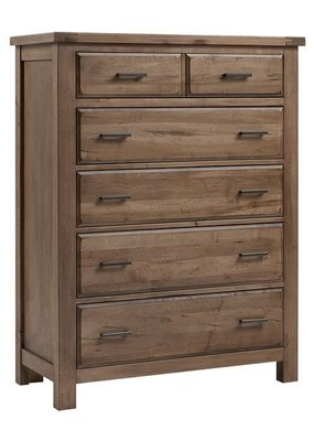 Vaughan Bassett Chestnut Creek 5 Drawer Chest (Fawn-Natural)