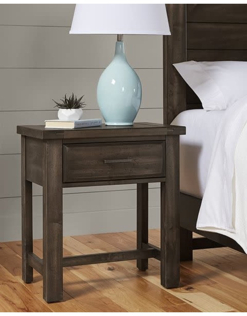 Vaughan Bassett Vaughan Bassett Chestnut Creek 1 Drawer Nightstand in Truffle-Dark (160-226)