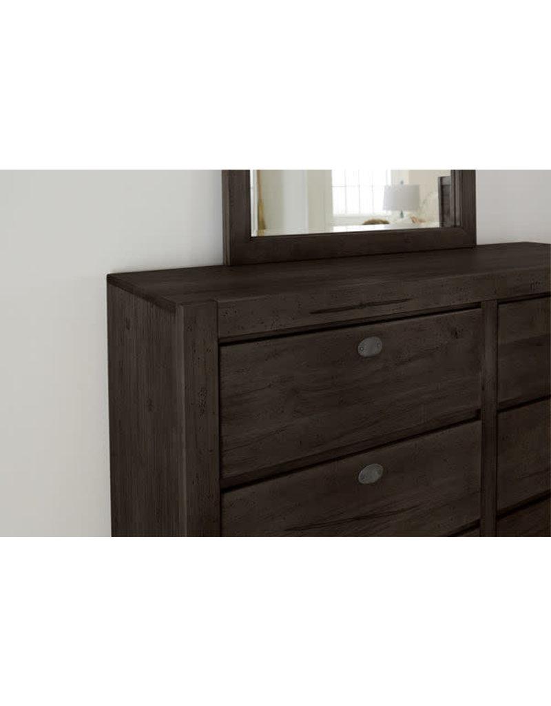 Vaughan Bassett Vaughan Bassett Touche 6 Drawer Dresser in Peppercorn-Black (260-002)