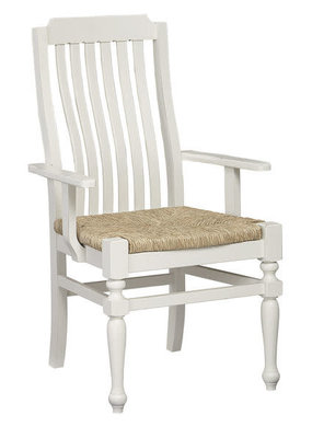 Vaughan Bassett Scotsman Seagrass Seat Arm Chair (Cream)