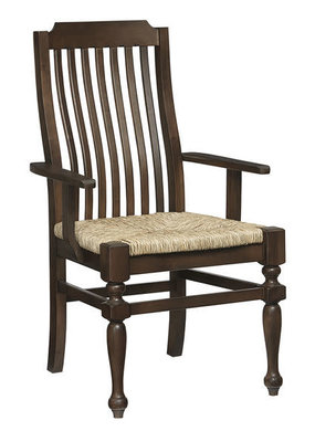 Vaughan Bassett Scotsman Seagrass Seat Arm Chair (Molasses)