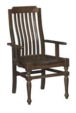 Vaughan Bassett Vaughan Bassett LM Co. Scotsman Wooden Seat Arm Chair in Molasses  (240-011)