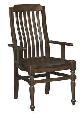 Vaughan Bassett Scotsman Wooden Seat Arm Chair (Molasses)