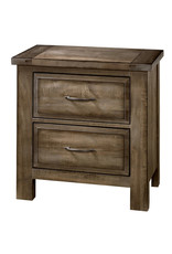 Vaughan Bassett Maple Road 2 Drawer Nightstand in Maple Syrup (117-227)