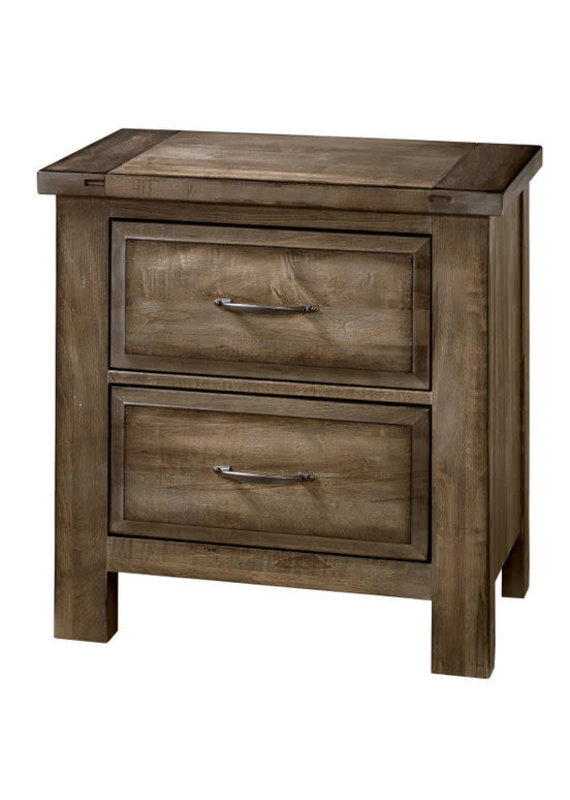 Vaughan Bassett Maple Road 2 Drawer Nightstand (Maple Syrup)