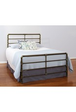 Largo Mia Queen Complete Bed in Antique Gold w/ Dynatrac Metal Side Rails (1630QHF)