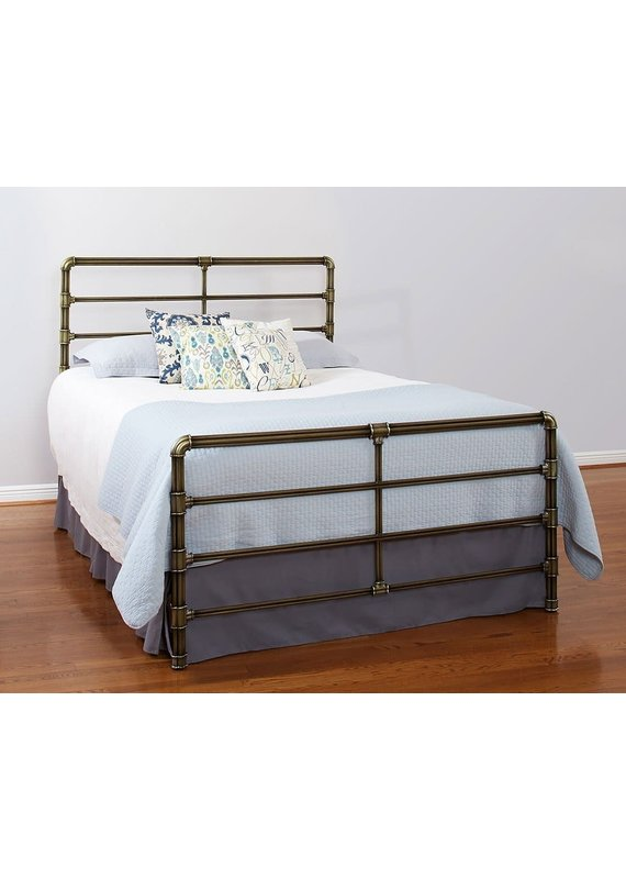 Mia King Complete Bed (Antique Gold)