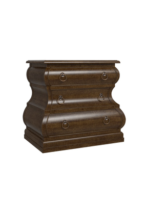 Home Classics 3 Drawer Nightstand (Shimmery Bronze )